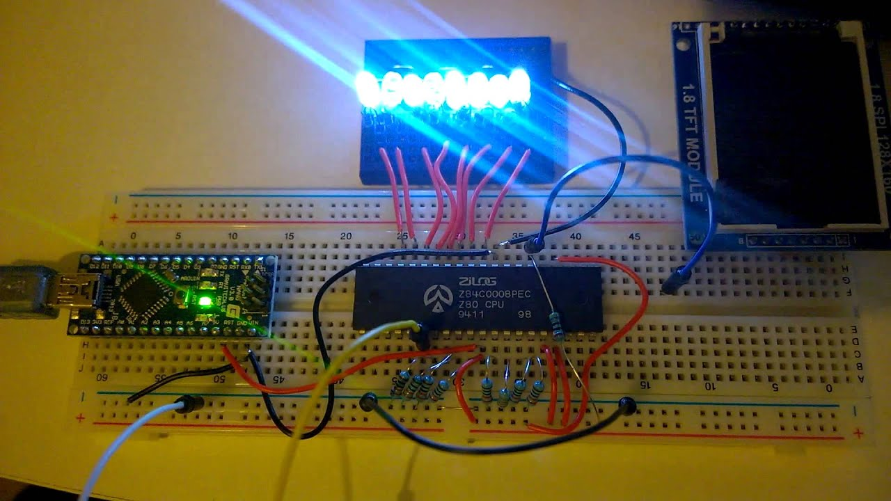 Z80 Test Circuit Youtube Picture Of Prototyping The