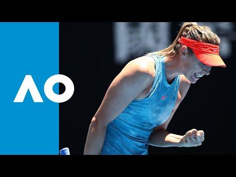 Maria Sharapova v Ash Barty first set highlights (4R) | Australian Open 2019