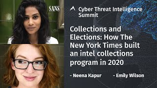 Collections and Elections: How The New York Times built an intel collections program in 2020