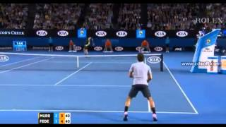 Andy Murray arguing with Roger Federer and Empire Australian Open 2013