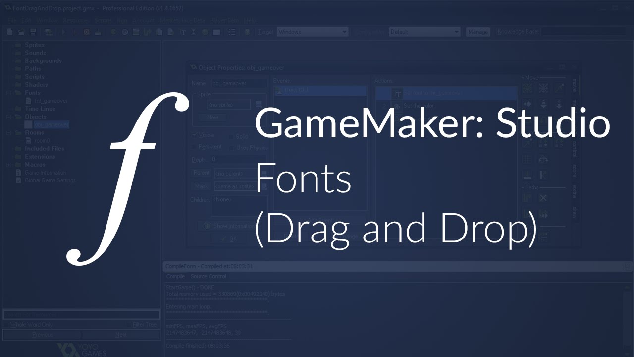 how to add fonts to gamemaker