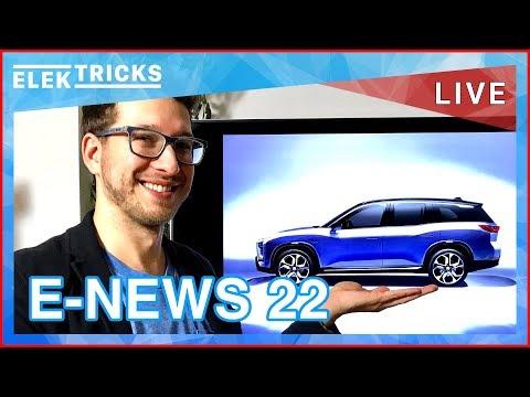 E-News #22 Toyota plant 10 E-Autos, Nio E-SUV, Deutsche Zellfertigung, Nissan Leaf 2018 Start