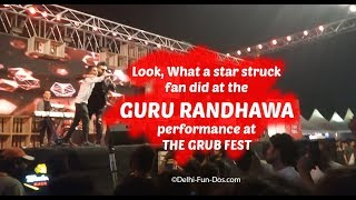 Singer Guru Randhawa with crazy fans at The Grub Fest