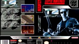 Terminator 2 SNES - Title screen & Steel Mill