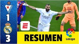 Eibar 1-3 Real Madrid. Benzema brilla en cuarta victoria merengue al hilo. Sonríe Zidane | LaLiga