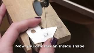 How to use the drill press to start sawing negative shapes
