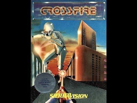 CROSSFIRE C64 SIERRA ONLINE 1983 COMMODORE 64 CLASSIC RETRO VIDEO GAME