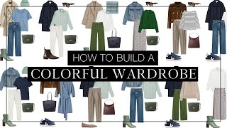 How to build a colorful capsule wardrobe | Sustainable style
