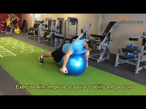 SHOULDER EXERCISES Prone 1 DB on Ex Ball
