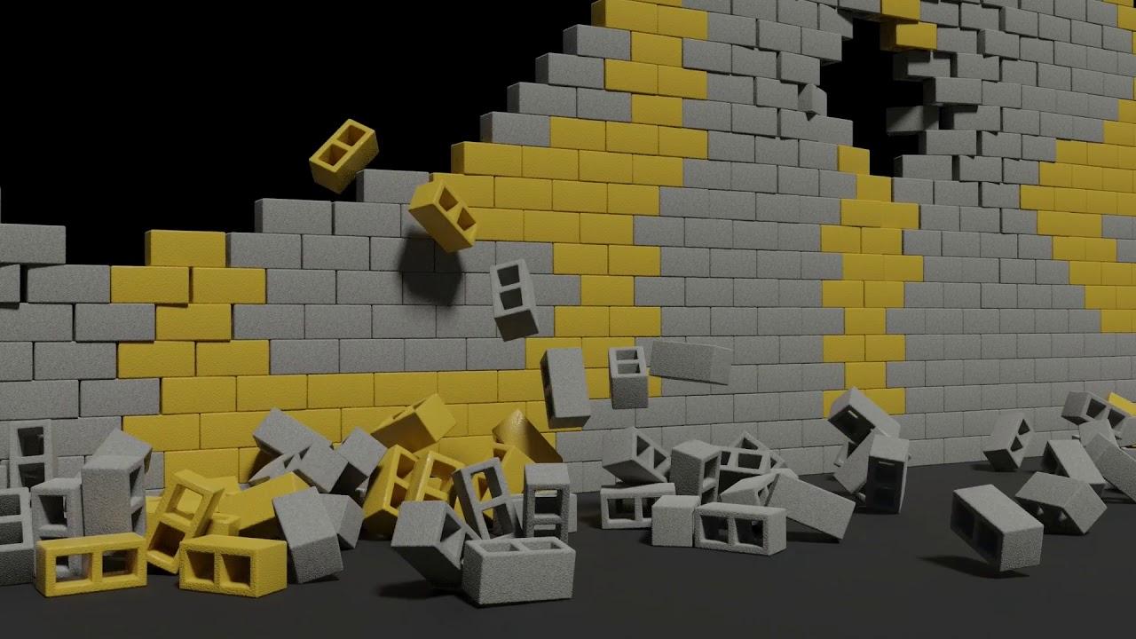 Concrete Block Wall Destruction - Blender - YouTube