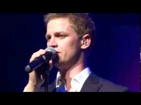 "@lukeckennedy singing ""Someone to Fall Back On"" by Jason Robert Brown Live @KingstonArtsAU"