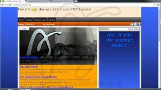 Membuat Web Portal Berita Harian Versi Gratis - PHP MySQL Tutorial