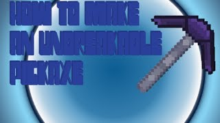 Modded Minecraft Tutorials | Making Unbreakable Pickaxe