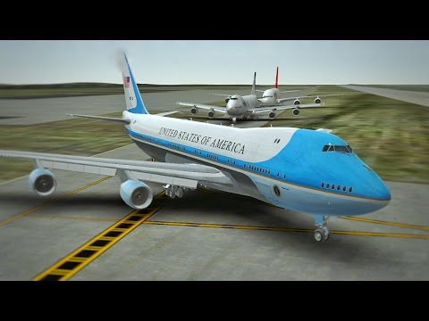 Air Force One takeoff at Los Angeles International Airport