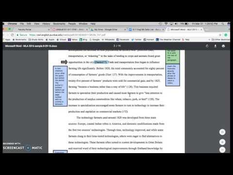 MLA format essay - OWL Purdue