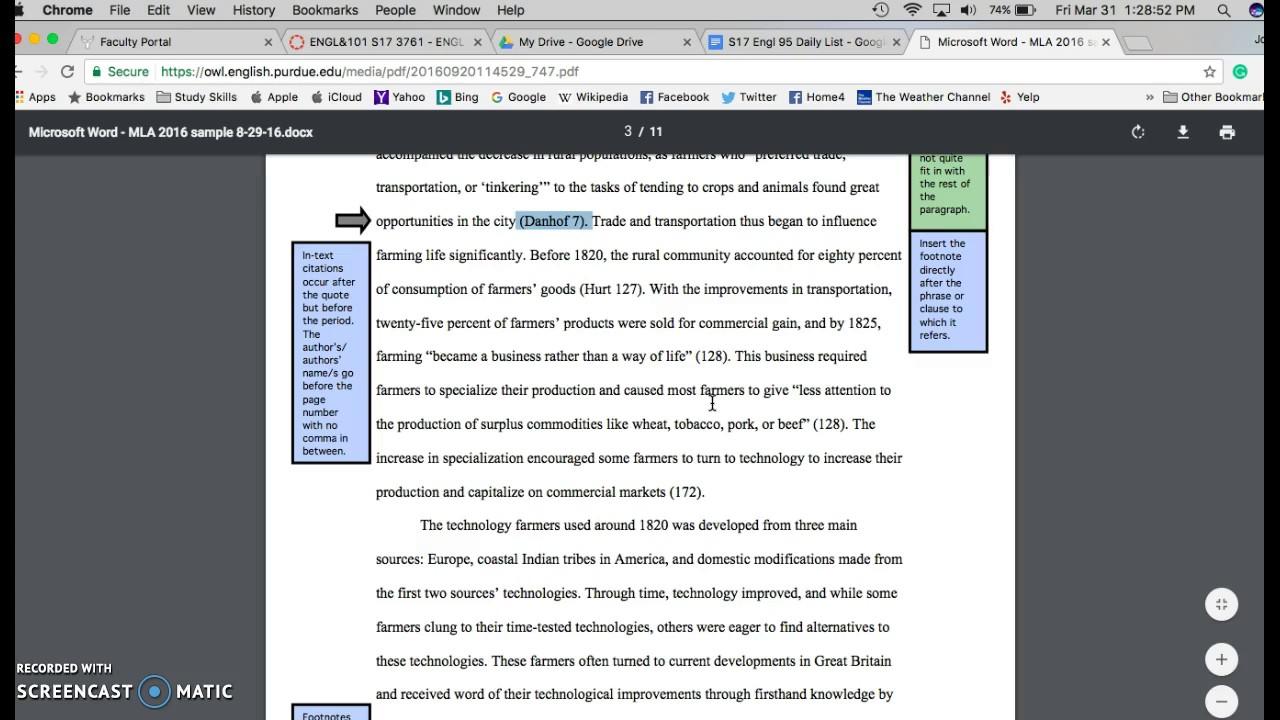Purdue Essay Mla Format Essay Owl Purdue Purdue Owl Paragraphs And