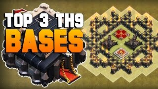 Clash of Clans | TOP 3 TH9 War Base 2016 | CoC BEST Town Hall 9 Defense [TH9 2016]