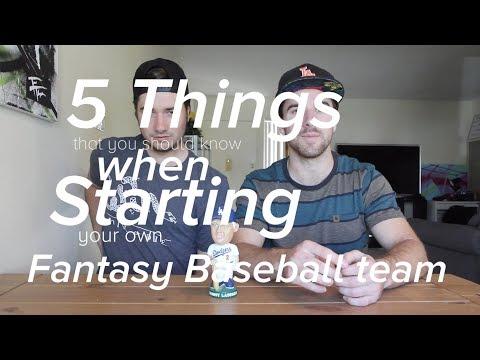 5 Things You Should Know When Starting a Fantasy Baseball Team: Bro's Talk Baseball