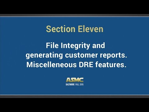 DDI training section 11 - File integrity and generating customer reports.