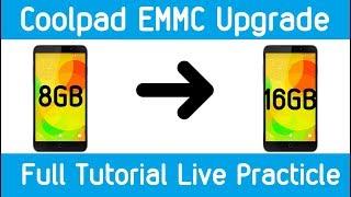 Upgrading EMMC 8GB to 16GB COOLPAD 8297 Full Tutorial