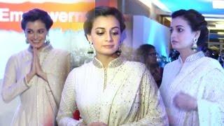 Dia Mirza Gorgeous Look In White Salwar Kameez || Celeb Zone