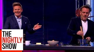 Gordon Ramsay Teaches Chris Moyles To Cook Scrambled Eggs