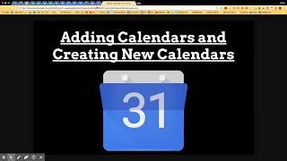 Adding Calendars and Creating New Calendars