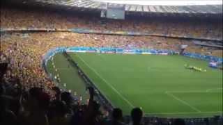 Colombia Canta su Himno y hace temblar el  Estadio Mineirão de Belo Horizonte Brasil