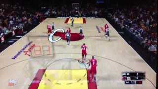 NBA 2k13 Miami Heat vs Spurs Online Gamaplay on the Wii U