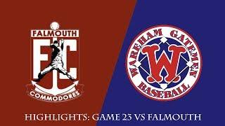 Gatemen Baseball Network Highlights: Wareham Gatemen vs. Falmouth Commodores (7/7/18)