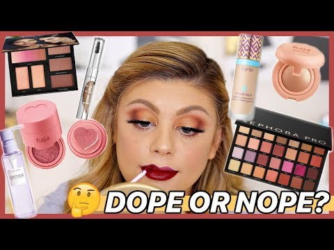 TESTING NEW HYPED MAKEUP | FULL FACE FIRST IMPRESSIONS