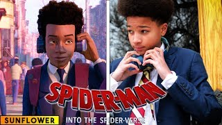 Gambar cover Sunflower - Spiderman: Into the Spider Verse - in real life