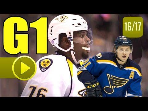 Nashville Predators vs St. Louis Blues. 2017 NHL Playoffs. Round 2. Game 1. 04.26.2017. (HD)