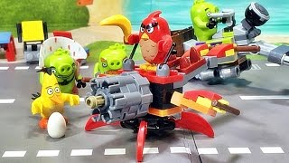 sy angry birds red pig war stopmotion lego knockoff block crazy birds review
