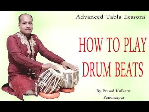 Tabla Lesson#31-How To Play  Drum Beats On Tabla