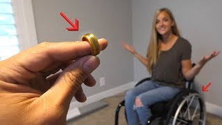 Making a Wedding Ring from a Wheelchair?! - Titanium & Gold!
