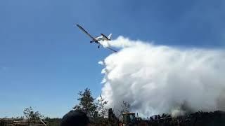 Pożar lasu w Kruszce w powiecie chojnickim
