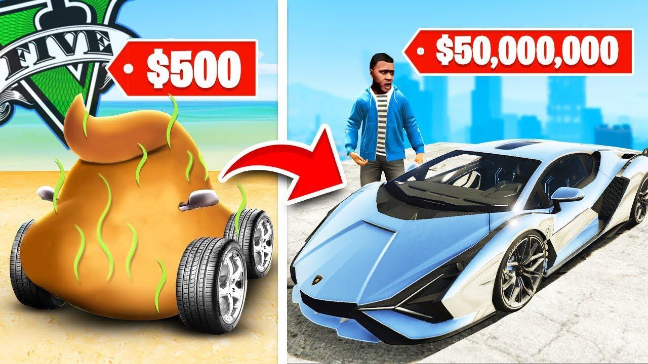 COCHE MÁS CARO vs BARATO de GTA 5! Grand Theft Auto V - GTA V Mods