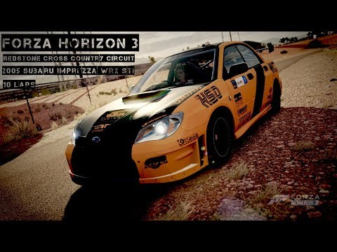 Forza Horizon 3 | Redstone Cross Country Circuit | 2005 Subaru Imprezza WRX STI | Gameplay
