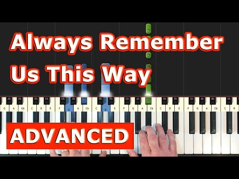 Lady Gaga - Always Remember Us This Way - Piano Tutorial Easy - (A Star is Born) Sheet Music