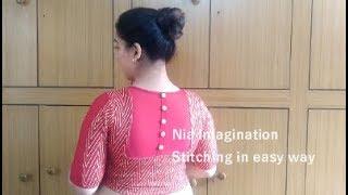 blouse back neck design stitching
