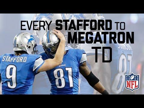 Every Matt Stafford to Calvin Johnson Regular Season TD! | #CountdownToKickoff | NFL Highlights