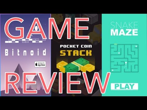 Game Review Of Buildbox All-Star Games - Bitnoid, Snake Maze, And Pocket Coin Stack