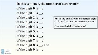 Can You Solve The Mind-Bending Self-Counting Sentence Riddle?