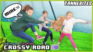 Crossy Road In REAL LIFE! | Swings and Stuffies