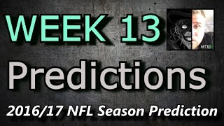 Week 13 - 2016 NFL Predictions