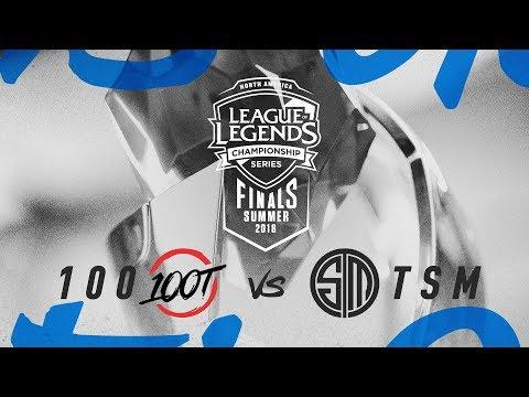 100 vs. TSM | Third Place Game 2 | NA LCS Summer Playoffs | 100 Thieves vs. TSM (2018)
