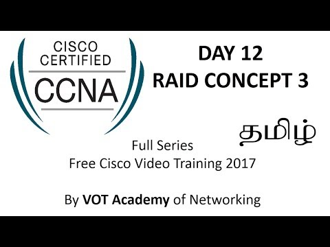 CCNA Full Series CISCO Video Training Free in Tamil - DAY 12 RAID CONCEPTS 3