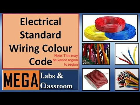 "Standard Wire Colour Code / Electrical wiring color code ""Note: this may be varied region to region"""