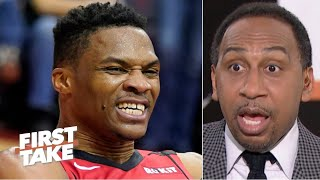 Russell Westbrook's stubbornness might be getting in the Rockets' way - Stephen A. | First Take
